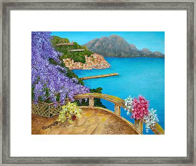 Amalfi Coast Framed Print by Pamela Allegretto