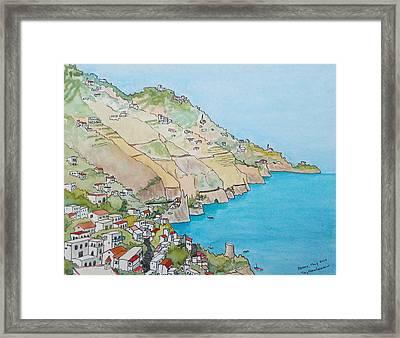 Amalfi Coast Praiano Italy Framed Print