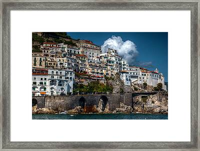 Framed Print featuring the photograph Amalfi Coast by Uri Baruch