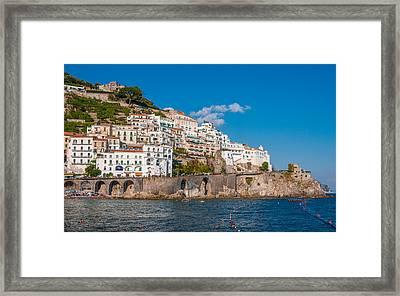 Amalfi Hills Framed Print