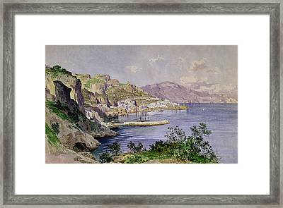 Amalfi Framed Print by Ludwig Hans Fischer