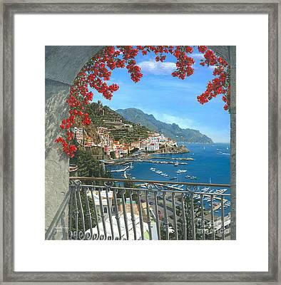 Amalfi Framed Print by MGL Meiklejohn Graphics Licensing