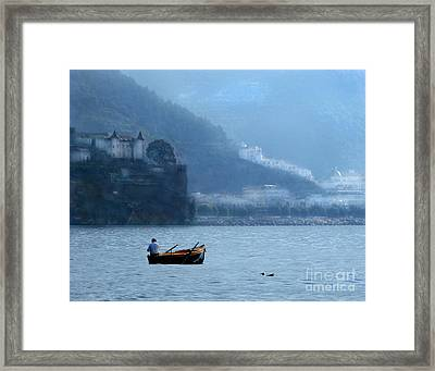 Framed Print featuring the photograph Amalfi To Capri. Italy by Jennie Breeze