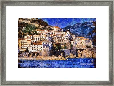 Amalfi Town In Italy Framed Print