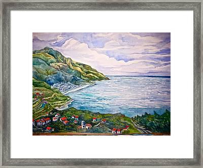 'amalfitana' Framed Print
