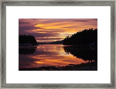 Amalga Harbor Sunset Framed Print