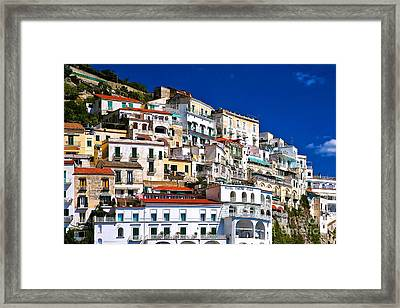 Amalfi Architecture Framed Print