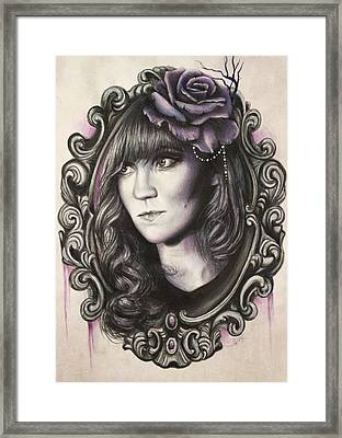 Amanda Denis - Tribute Portrait  Framed Print by Sheena Pike