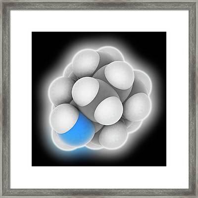 Amantadine Drug Molecule Framed Print
