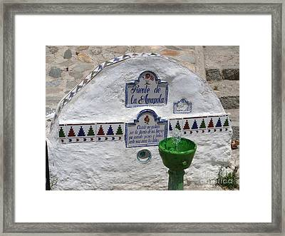 Amapola Fountain Granada Framed Print by Phil Banks