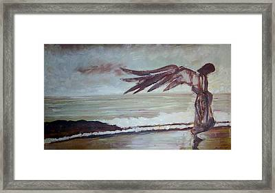 Framed Print featuring the painting Amaranth by Jarmo Korhonen aka Jarko