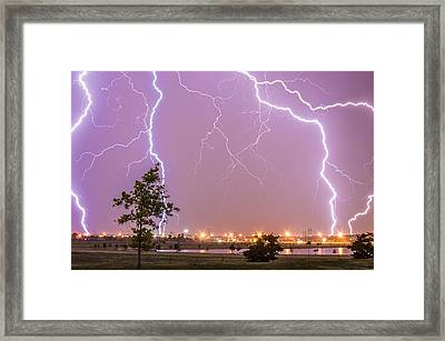 Amarillo Bolts Framed Print