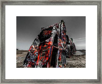 Amarillo - Cadillac Ranch 005 Framed Print by Lance Vaughn
