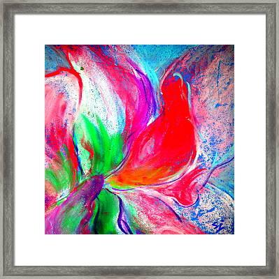 Funky Amaryllis Lily Framed Print