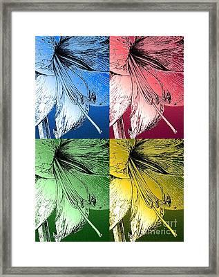 Amaryllis Pop Art Framed Print