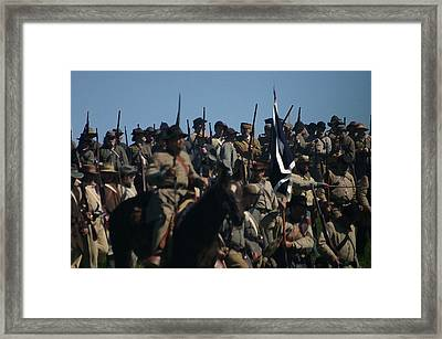 Amassing For The Battle - Perryville Ky Framed Print by Thia Stover