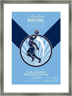 Amateur Basketball League Retro Poster Framed Print by Aloysius Patrimonio
