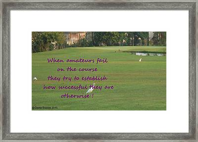 Amateur Golf  Framed Print by Geeta Biswas