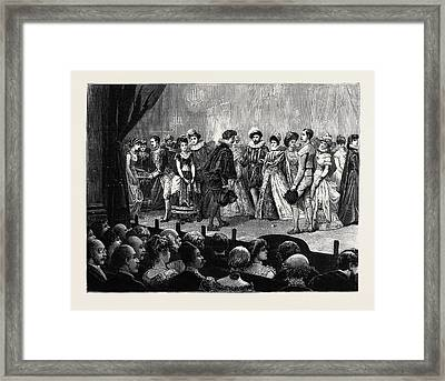 Amateur Performance Of One Hour At The British Embassy Framed Print by English School