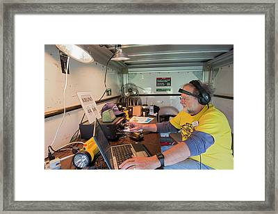 Amateur Radio Operator Framed Print by Jim West