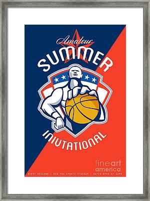 Amateur Summer Invitational Basketball Poster Framed Print by Aloysius Patrimonio