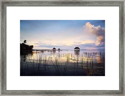 Amazing Bay Sunset Framed Print by Yuri Santin
