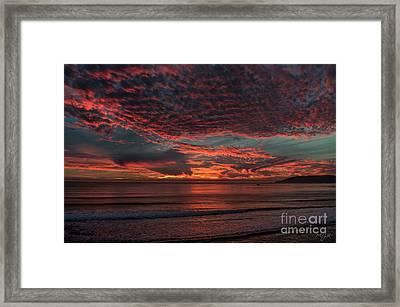 Amazing Blazing Sunset Framed Print