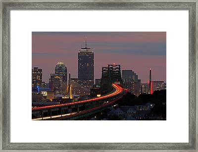 Amazing Boston Framed Print by Juergen Roth