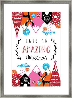 Amazing Christmas Framed Print by Susan Claire