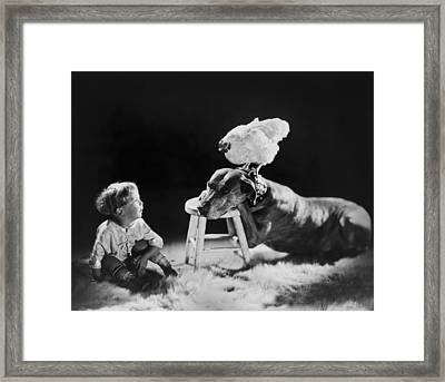 Amazing Circa 1920 Framed Print by Aged Pixel