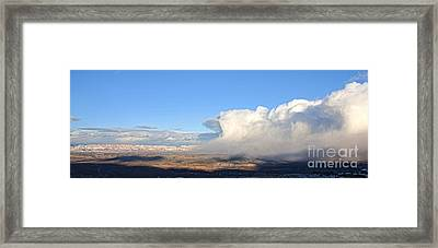 Amazing Cloud Swallows Red Rocks Of Sedona Arizona Framed Print