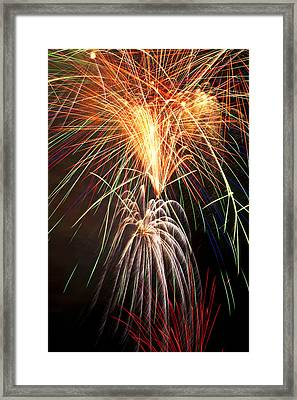 Amazing Fireworks Framed Print