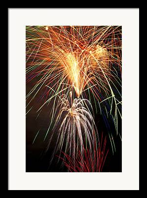 Colourfulhappy New Year Framed Prints