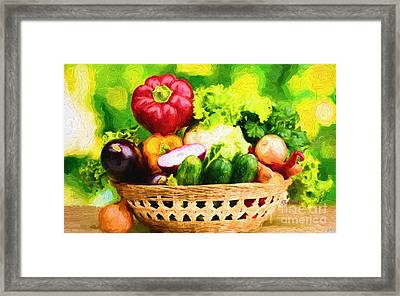 Amazing Gmo. Vegetables Framed Print