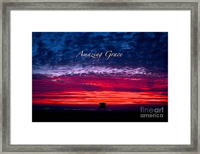 Framed Print featuring the photograph Red Sky At Night by Margie Amberge