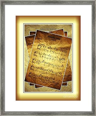 Amazing Grace In Browns Framed Print
