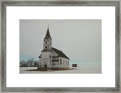 Amazing Grace In North Dakota Framed Print