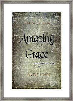 Amazing Grace Framed Print by Jill Battaglia