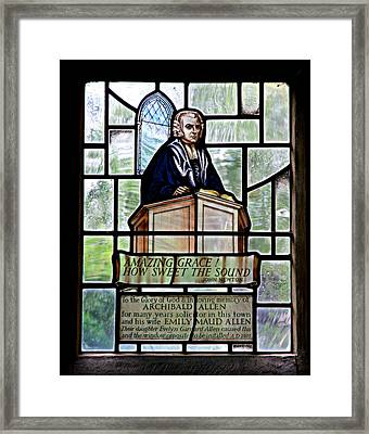 Amazing Grace Framed Print by Stephen Stookey