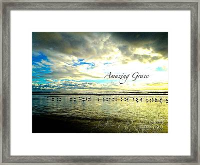 Framed Print featuring the photograph Amazing Grace Sunrise 2 by Margie Amberge