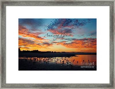 Framed Print featuring the photograph Amazing Grace On Siesta Key by Margie Amberge