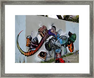 Amazing Graffiti Art Framed Print by Al Bourassa