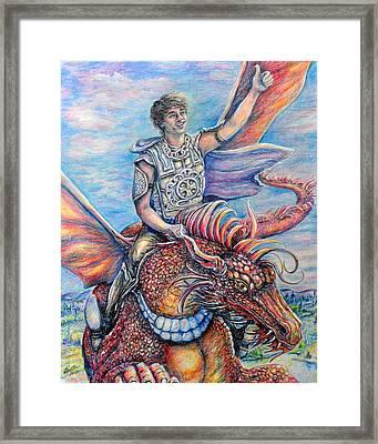 Amazing Rider Framed Print