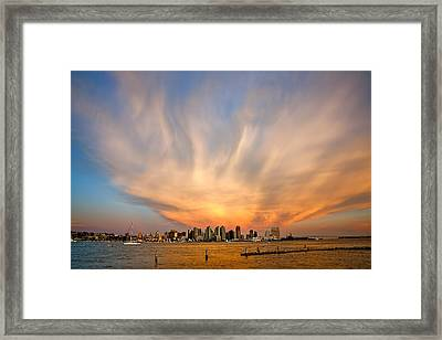Amazing San Diego Sky Framed Print by Peter Tellone