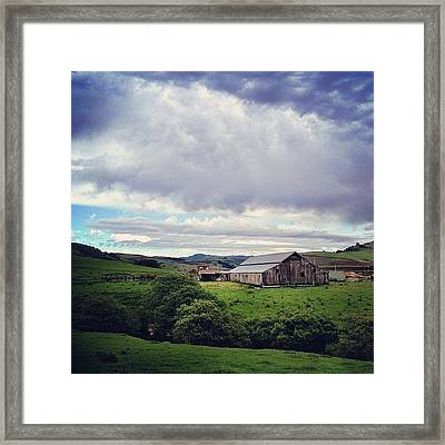 Amazing Skies This Afternoon Framed Print