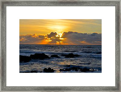 Amazing Sunset Framed Print by Alex King