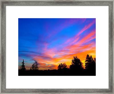 Amazing Sunset Framed Print by Lisa Rose Musselwhite