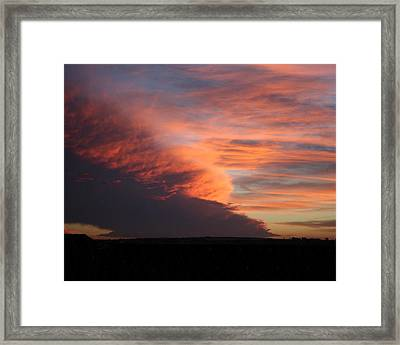 Amazing Sunset Framed Print by Troy Caperton