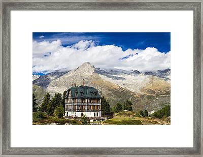 Amazing Villa Cassel In The Swiss Alps Switzerland Framed Print
