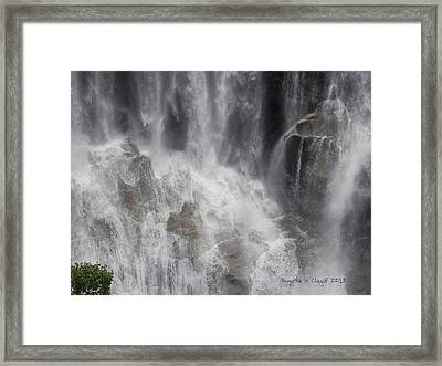 Framed Print featuring the digital art Amazing Waterfall by Angelia Hodges Clay